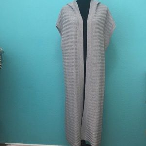 WHBM Grey Cardigan with hooded Size S
